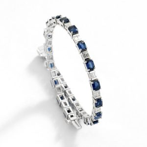 Abrecht Bird Jewellers, Abrecht Bird, sapphire and diamond bracelet, custom made jewellery, hand made jewellery,