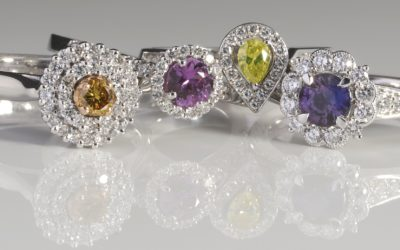 Halo style rings