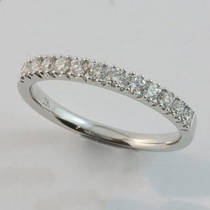 White gold diamond ring, Claw set diamond wedding ring