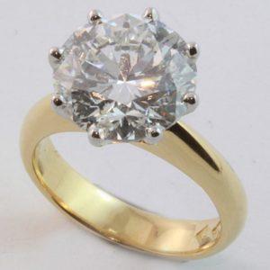 5 ct diamond ring, Abrecht Bird, Abrecht Bird Jewellers, solitaire diamond ring, hand made diamond ring