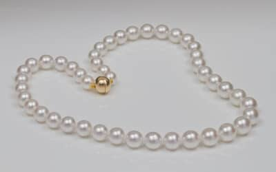 119384 : South Sea Pearl Necklace With Gold Magnetic Clasp