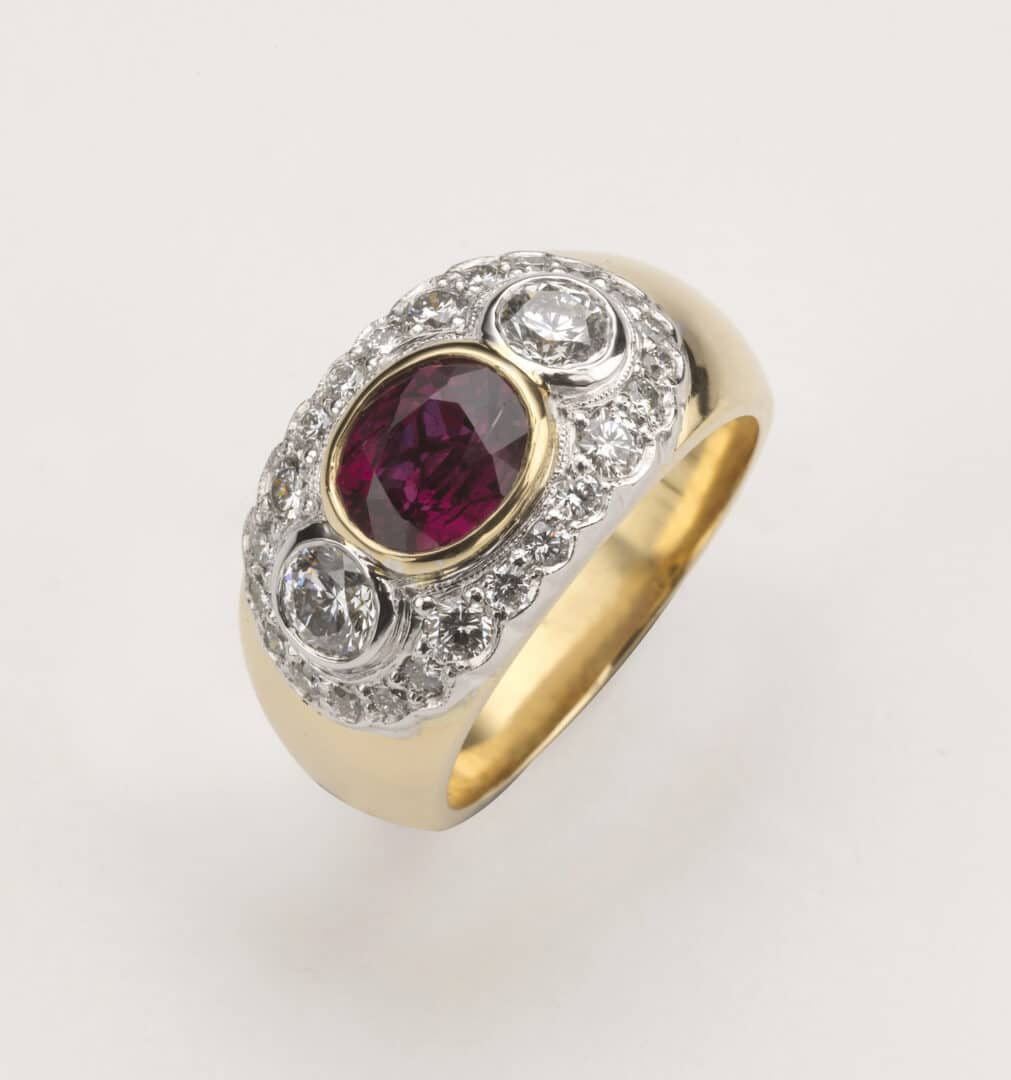 ruby engagement ring, Farmer Wants A Wife, custom made engagement ring, Greg John, Ruby July birthstone, hand made engagement rings, custom designed ring, gold engagement ring, ruby